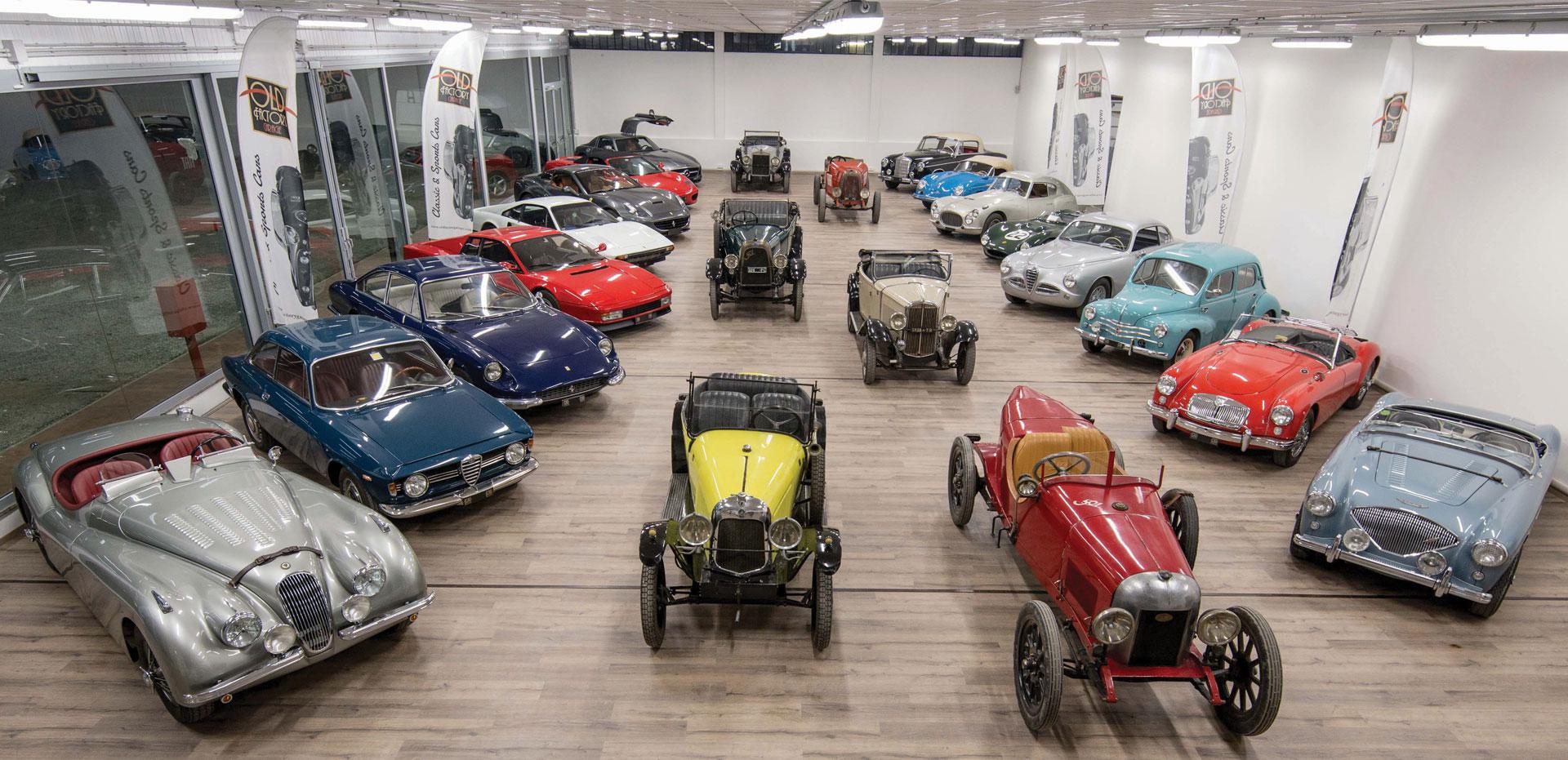 showroom auto d'epoca e vetture storiche