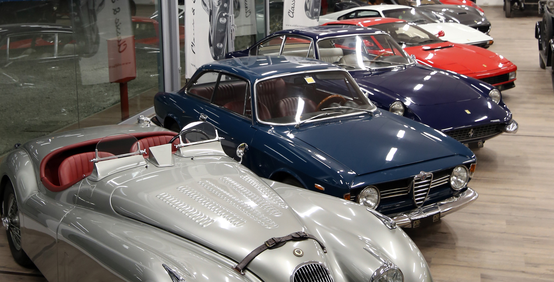 old and luxury italian cars