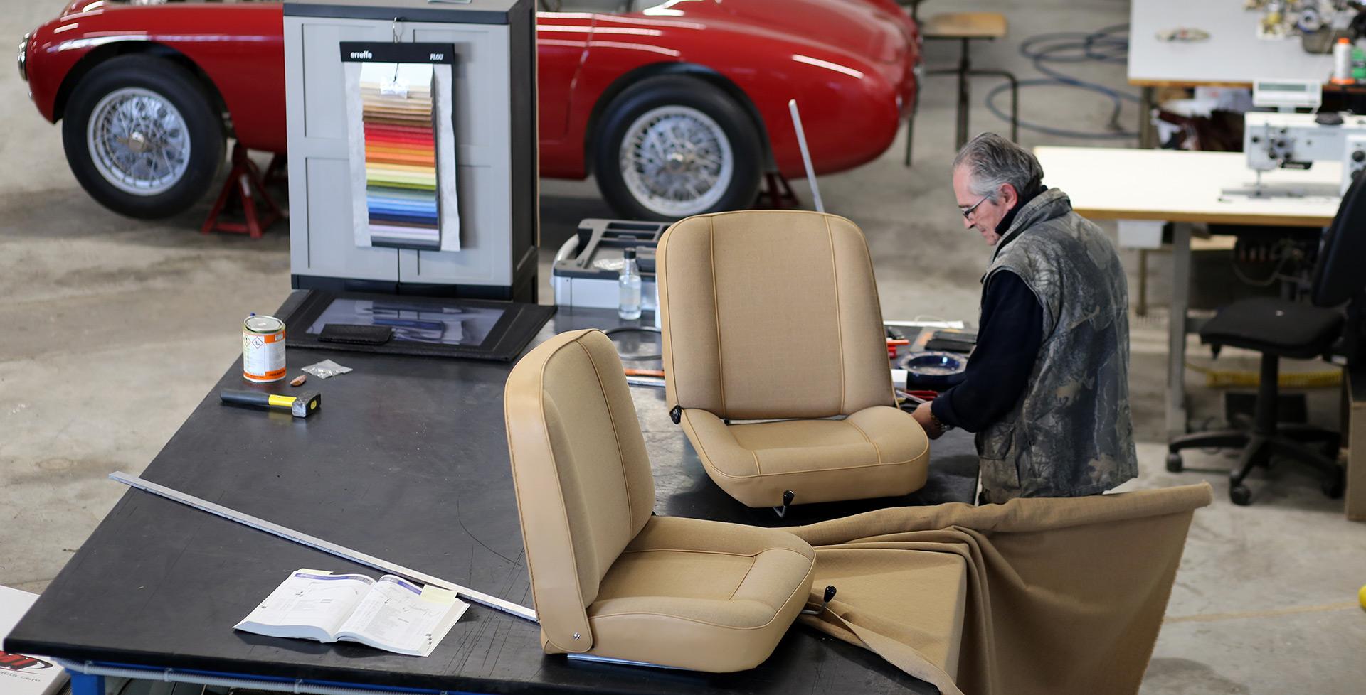 tappezzeria e restauro interni vetture storiche