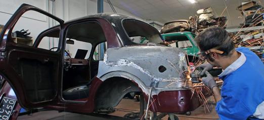 officina restauro automobili d'epoca